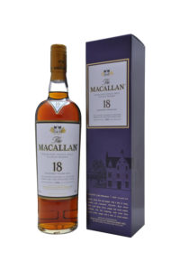 Macallan 18yr single malt scotch whisky