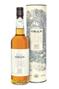 Oban 14yr single malt scotch whisky