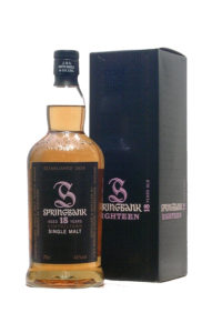 Springbank 18yr single malt scotch whisky