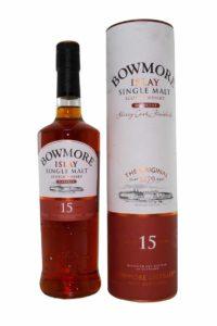 bowmore 15yr darkest single malt scotch whsiky