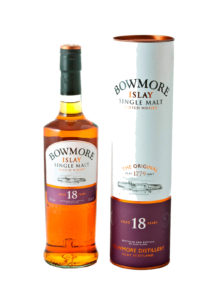 bowmore 18yr single malt scotch whisky