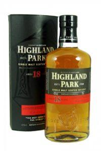 highland park 18yr single malt scotch whisky