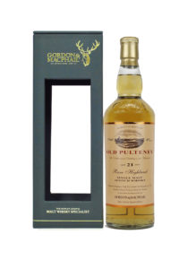 old pulteney 21yr by g&m single malt scotch whisky