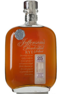 Jefferson's Presidential Select 25yr Straight Rye Whiskey